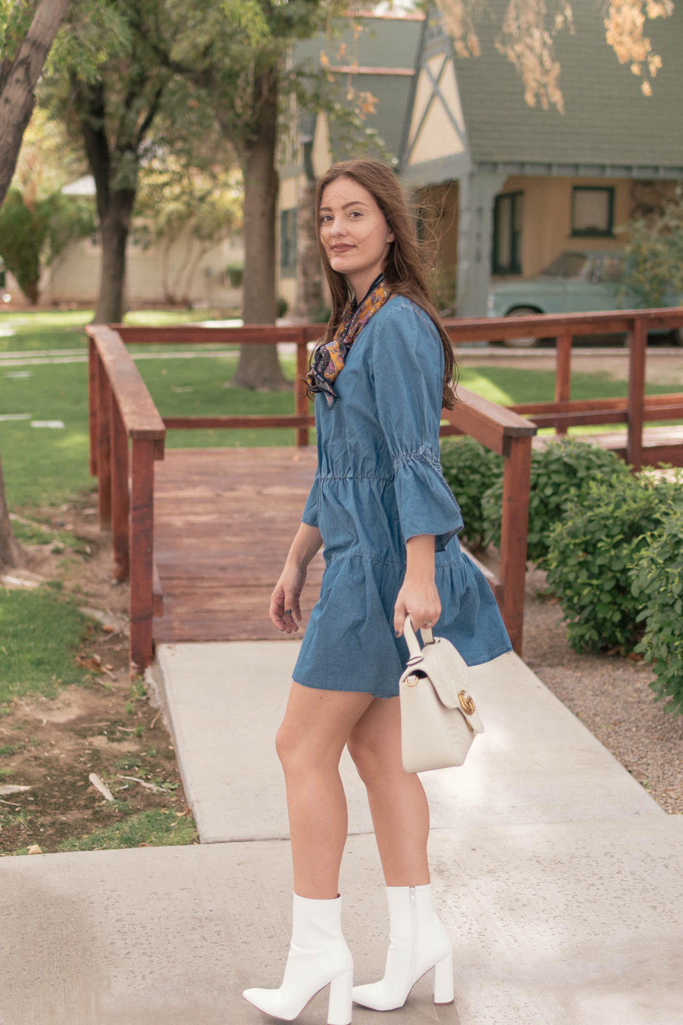 Under $40 Denim Dress - www.HaleighHall.com